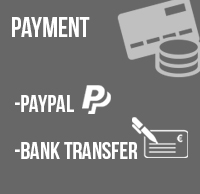 Payment: Paypal, bank transfer