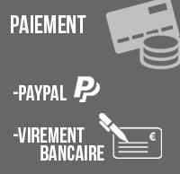 Paiement: Paypal, Virement bancaire