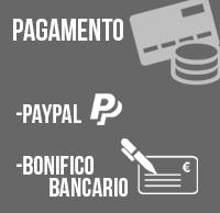 Pagamento: Paypal, Bonifico bancario
