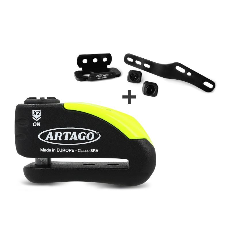 Bremsscheibenschloss Ducati Hypermotard 939 16-17 Artago 30x14 Alarm + Haltesatz K402