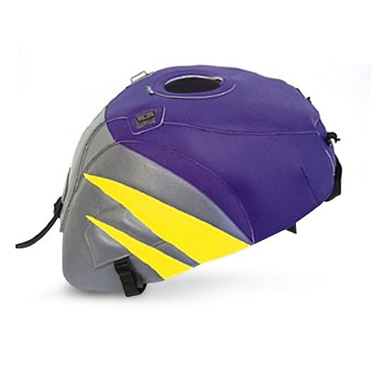 prot ge r servoir bagster suzuki gsx r 750 96 99 violet fonc jaune citron gris acier. Black Bedroom Furniture Sets. Home Design Ideas