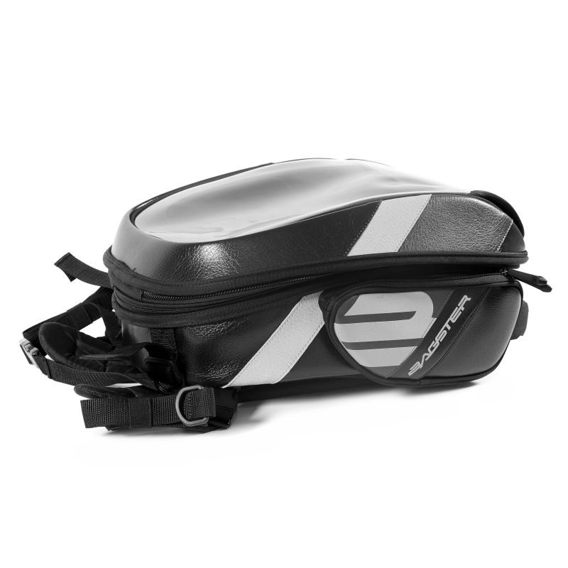 Uitbreidbaar tanktas Bagster Stunt PVC 5849N 21-32 liter zwart