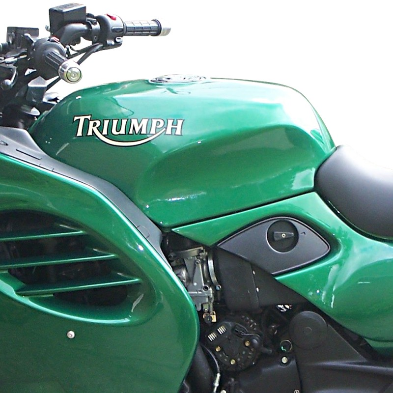 tank protector cover bagster triumph trophy 1200 2002 green ebay. Black Bedroom Furniture Sets. Home Design Ideas