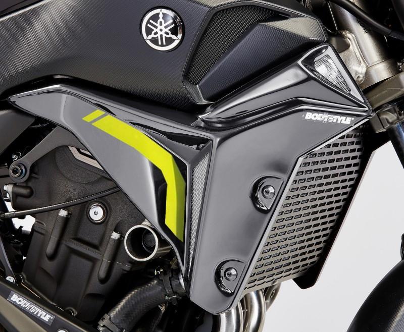 Kühlerseitenverkleidung Bodystyle Yamaha MT-07 16-17 grau/ gelb