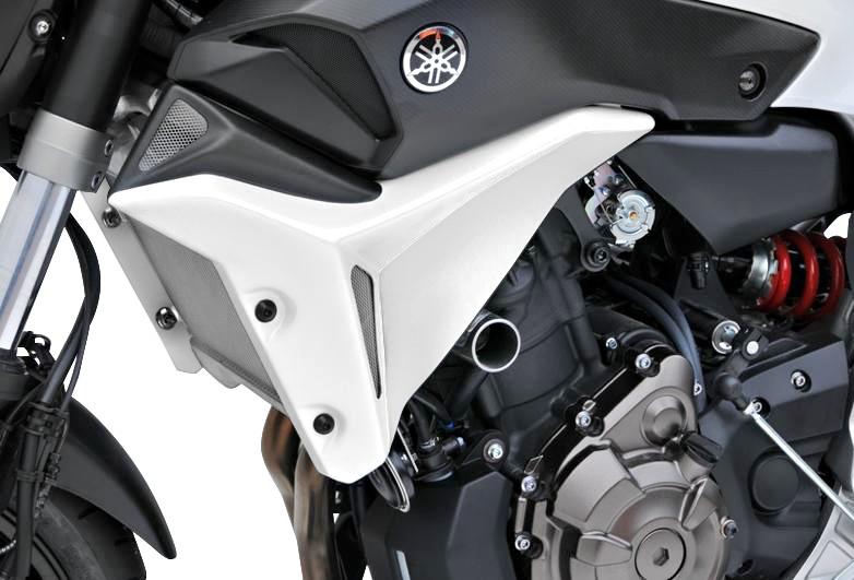 Kühlerseitenverkleidung Bodystyle Yamaha MT-07 14-15 weiss