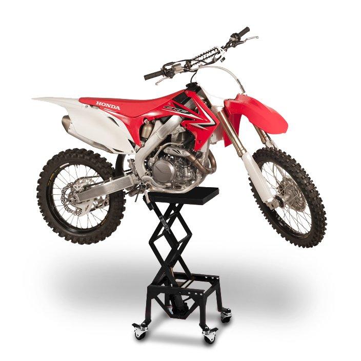 leve moto cross bl ktm 950 super enduro r cric ciseaux hydraulique a roues ebay. Black Bedroom Furniture Sets. Home Design Ideas