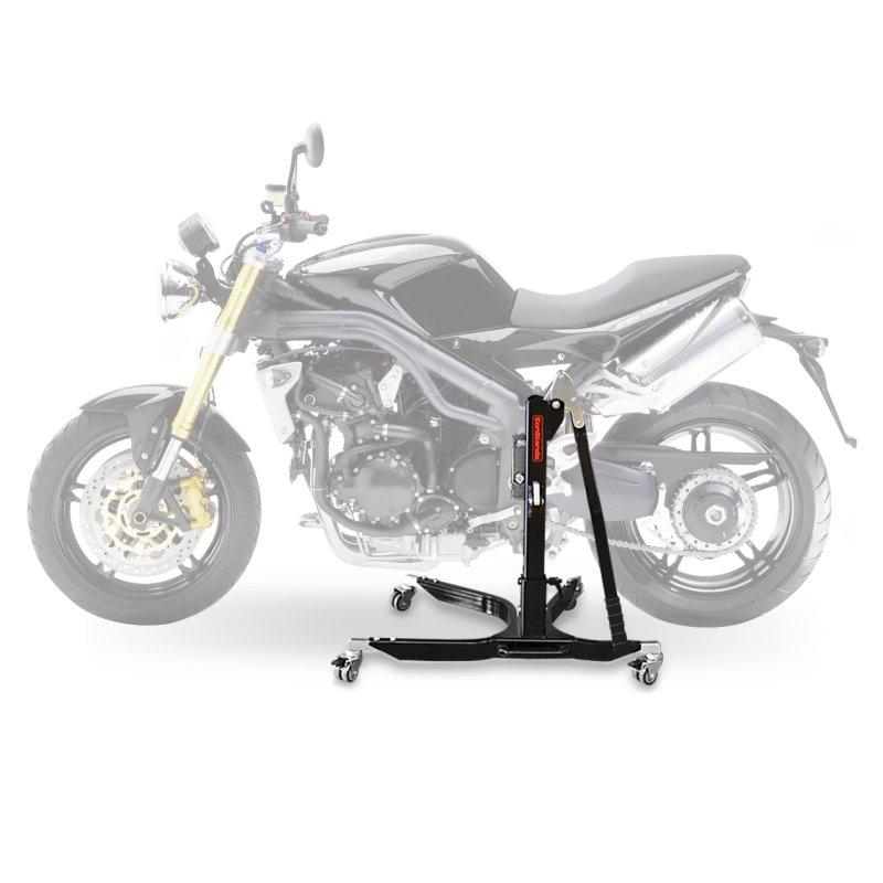 bequille d 39 atelier moto centrale constands power triumph speed triple 05 10 adapteur roulettes. Black Bedroom Furniture Sets. Home Design Ideas