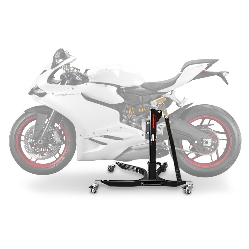 bequille d 39 atelier moto centrale constands power ducati 899 panigale 14 15 adapteur roulettes incl. Black Bedroom Furniture Sets. Home Design Ideas