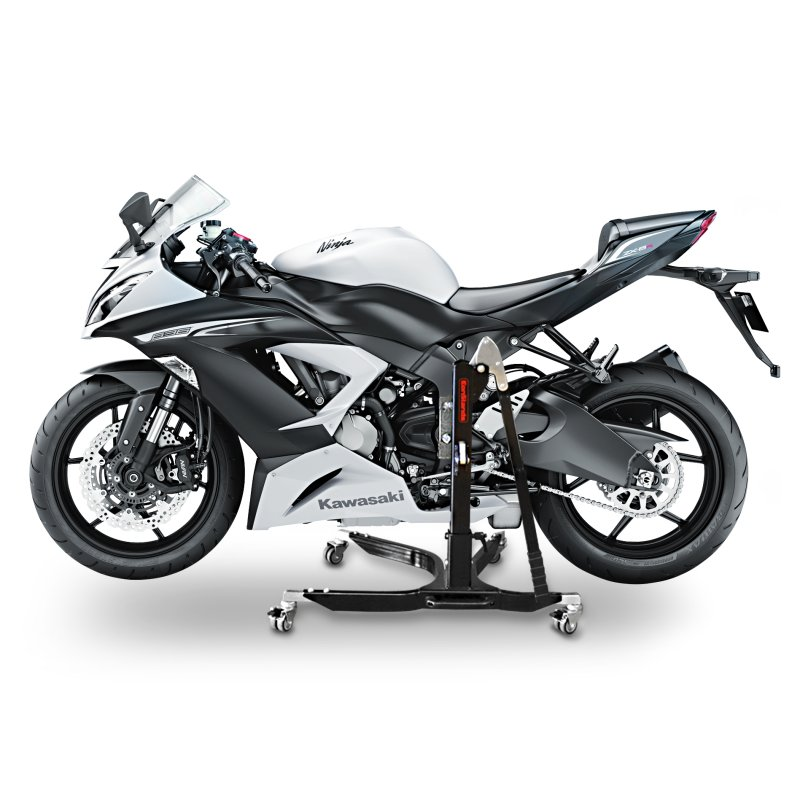 bequille d 39 atelier moto centrale cs power kawasaki zx 6r 636 13 15 leve chariot ebay. Black Bedroom Furniture Sets. Home Design Ideas