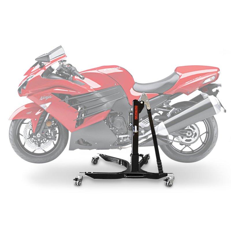 bequille d 39 atelier moto centrale constands power kawasaki zzr 1400 06 17 adapteur roulettes incl. Black Bedroom Furniture Sets. Home Design Ideas
