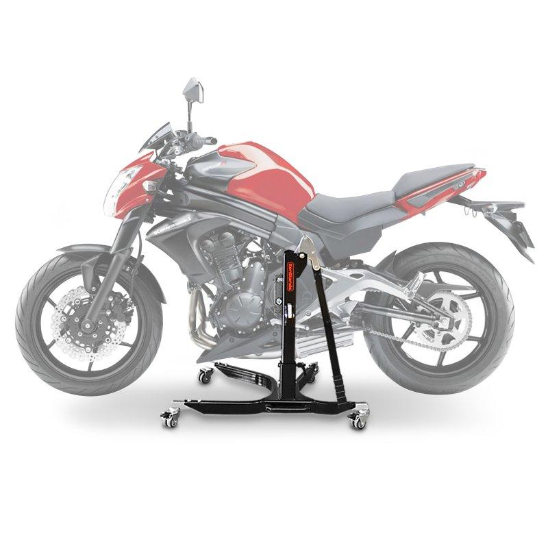 bequille d 39 atelier moto centrale constands power kawasaki er 6n 12 16 adapteur roulettes incl. Black Bedroom Furniture Sets. Home Design Ideas