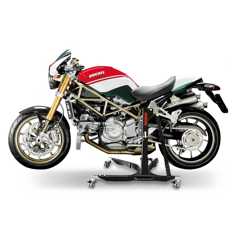 bequille d 39 atelier moto centrale constands power ducati monster s4rs 06 08 ebay. Black Bedroom Furniture Sets. Home Design Ideas