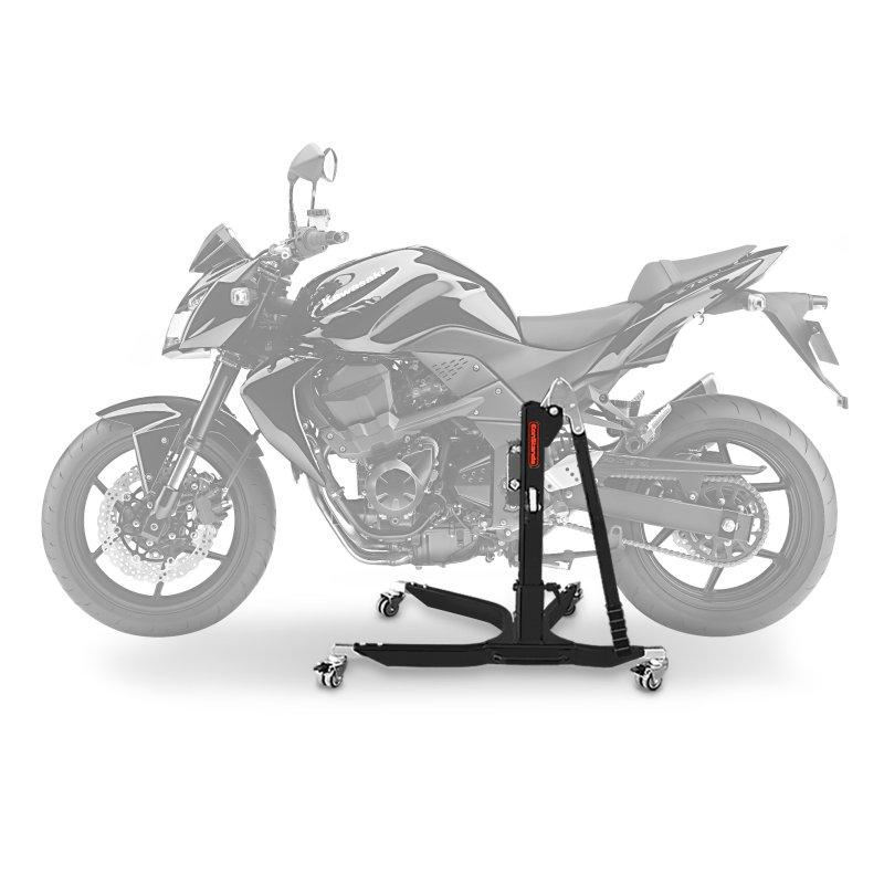 bequille d 39 atelier moto centrale constands power kawasaki z 750 r 07 12 adapteur roulettes. Black Bedroom Furniture Sets. Home Design Ideas