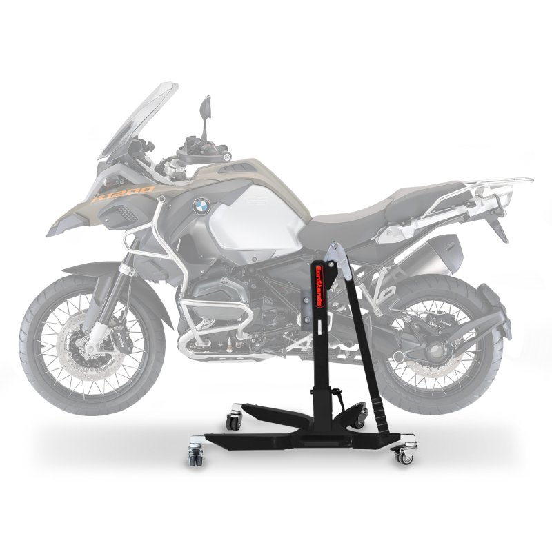 bequille d 39 atelier centrale constands power bmw r 1200 gs adventure 14 18 noir mat. Black Bedroom Furniture Sets. Home Design Ideas