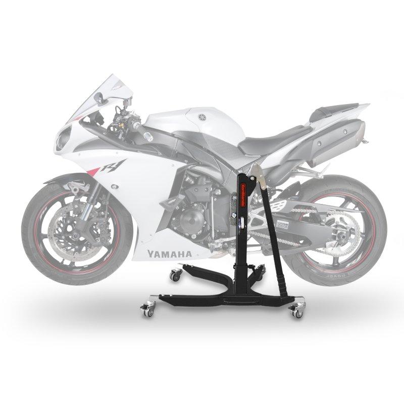bequille d 39 atelier moto centrale constands power yamaha yzf r1 07 14 adapteur roulettes incl. Black Bedroom Furniture Sets. Home Design Ideas
