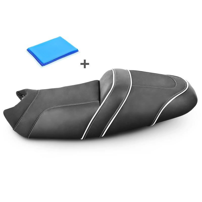 selle de moto gel confort transformation honda ntv 650 revere. Black Bedroom Furniture Sets. Home Design Ideas