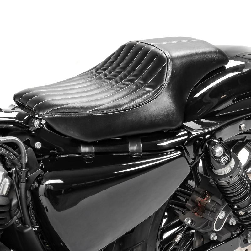 XL 1200 X Selle Pouf Passager /à Ventouses pour Harley Davidson Sportster Forty-Eight 48 Craftride Diamond Noir