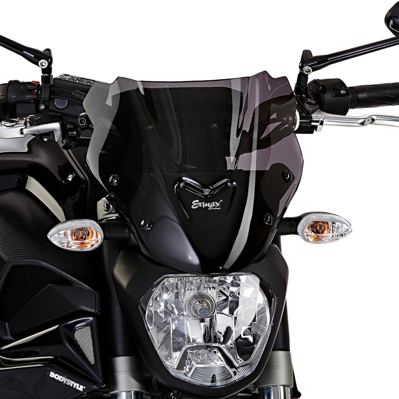 windshield ermax yamaha mt 07 14 17 dark smoke. Black Bedroom Furniture Sets. Home Design Ideas