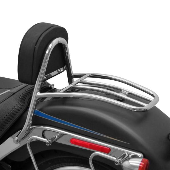 Sissy Bar + Gepäckträger Fehling für Harley Davidson Fat Boy (FLSTF) 07-17