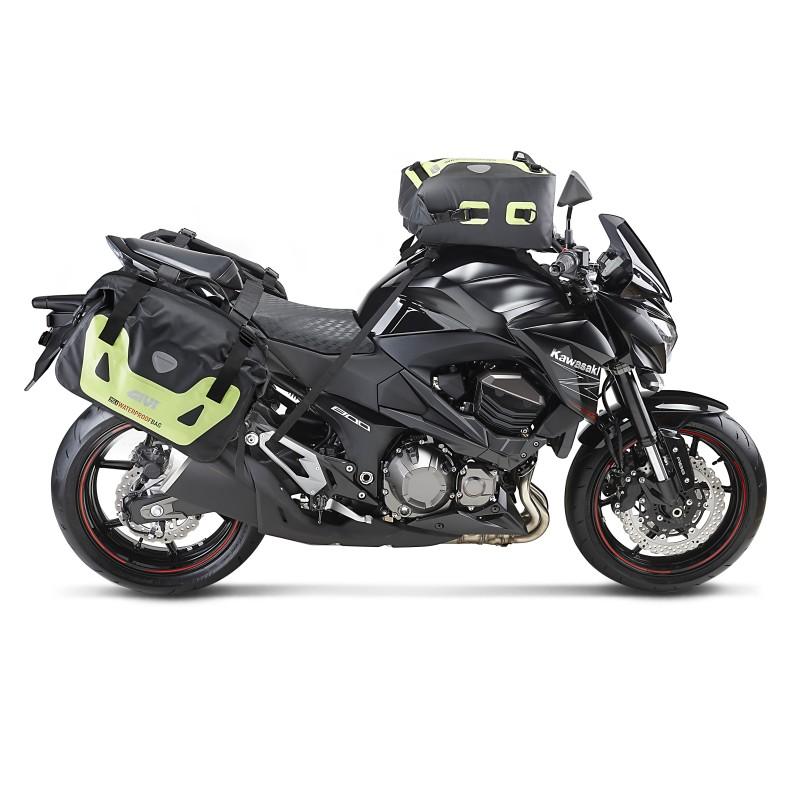 motorcycle side bags pair kawasaki z 1000 sx givi wp405 25 liter ebay. Black Bedroom Furniture Sets. Home Design Ideas