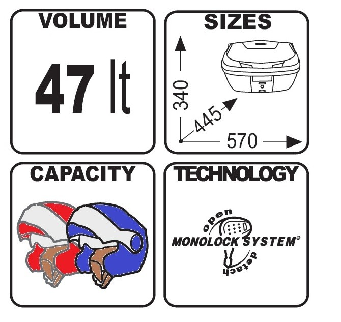 Bauletto-Givi-Suzuki-GSX-S-1000-B47nml-Monolock-Blade-nero