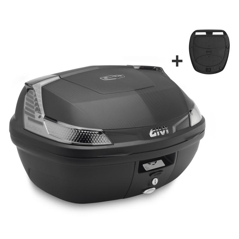 Bauletto-Givi-Suzuki-DR-Z-400-S-B47ntml-Monolock-Blade-Tech-nero