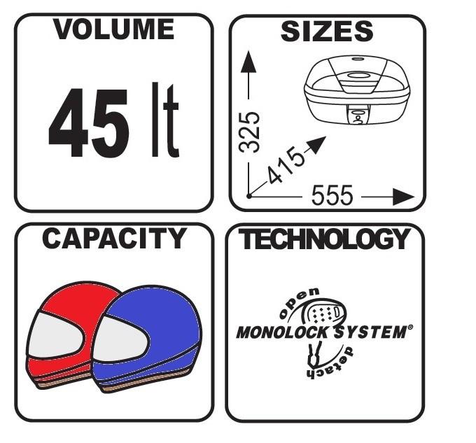 Bauletto-Top-Case-Set-Givi-Suzuki-V-Strom-1000-14-16-ML-E450N-45l-nero