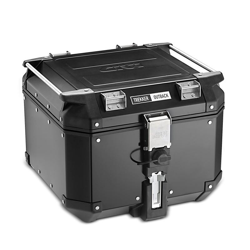 aluminium top case set givi suzuki burgman 400 07 16 obk42b monokey black ebay. Black Bedroom Furniture Sets. Home Design Ideas
