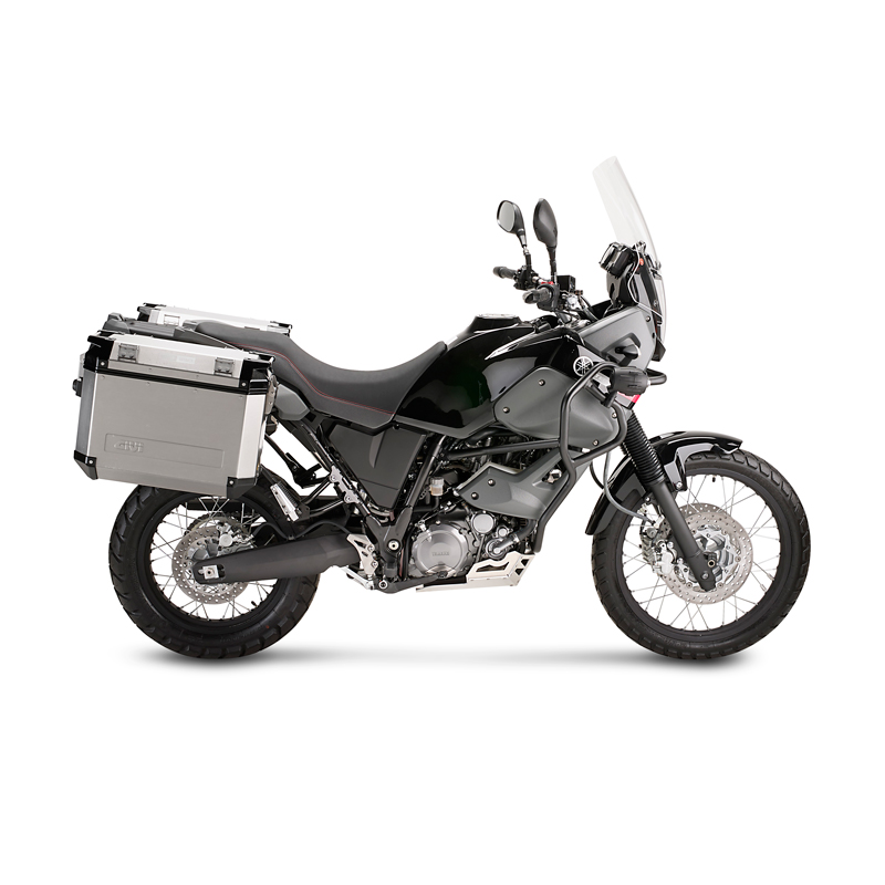 engine guard givi yamaha xt 660 z tenere 08 16 silver skid. Black Bedroom Furniture Sets. Home Design Ideas