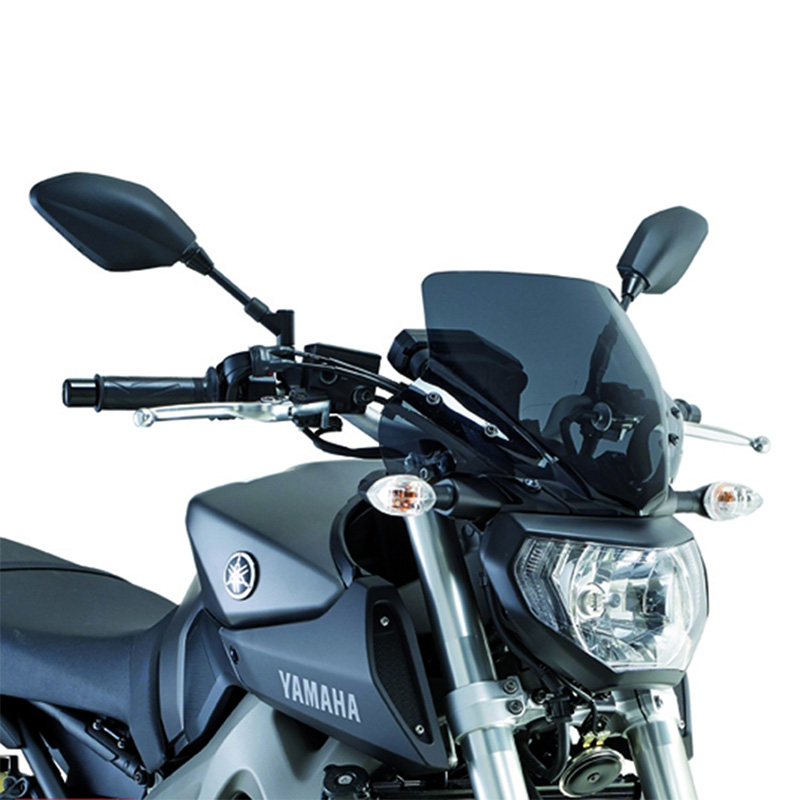 windshield givi yamaha mt 09 13 16 dark smoke. Black Bedroom Furniture Sets. Home Design Ideas