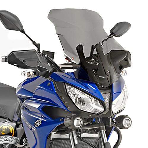 motorcycle windshield yamaha mt 07 tracer 16 17 givi tinted. Black Bedroom Furniture Sets. Home Design Ideas