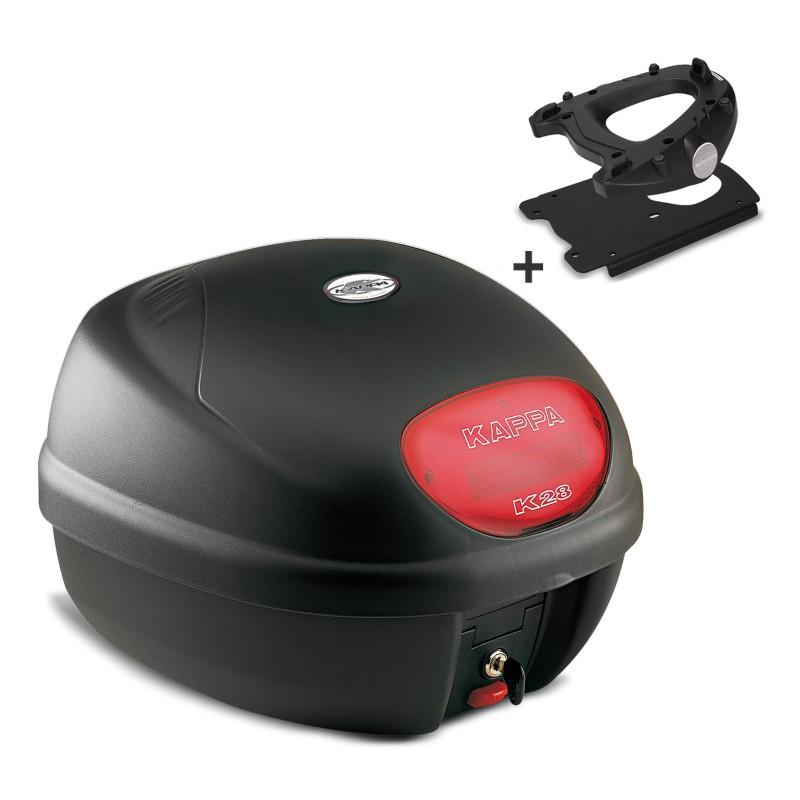 top case set honda vision 110 11 16 kappa monolock k28n black. Black Bedroom Furniture Sets. Home Design Ideas