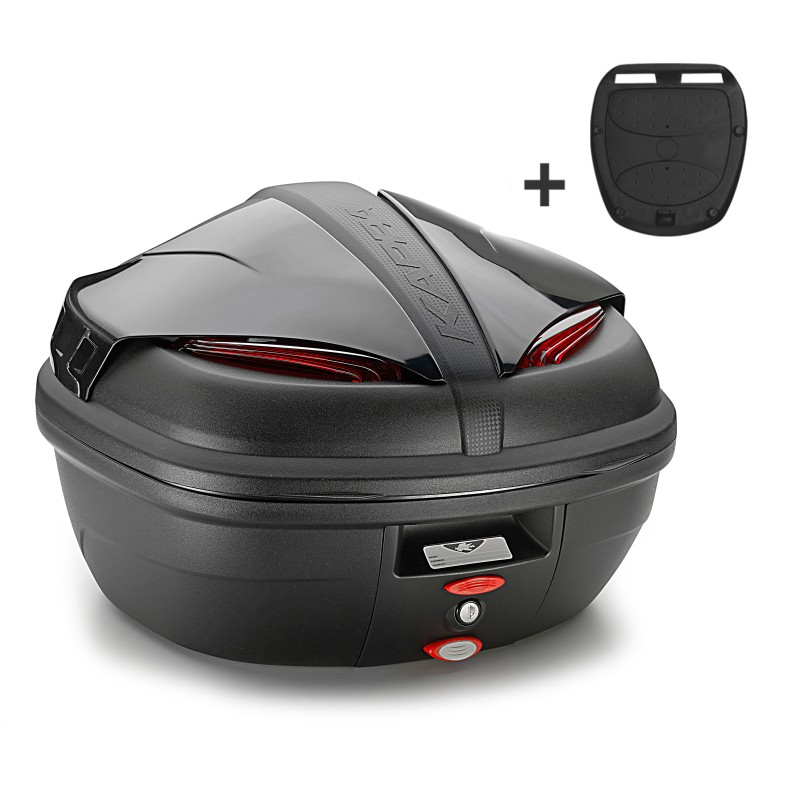 top case set givi piaggio x10 500 12 16 trk46n monokey black ebay. Black Bedroom Furniture Sets. Home Design Ideas