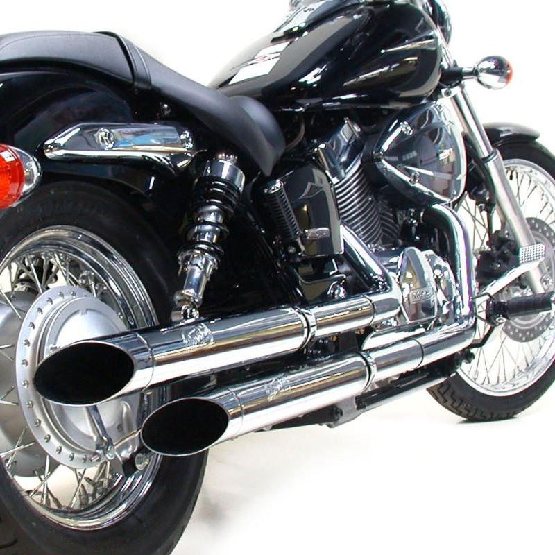 exhaust silvertail k02 honda shadow vt 125 c 99 09. Black Bedroom Furniture Sets. Home Design Ideas