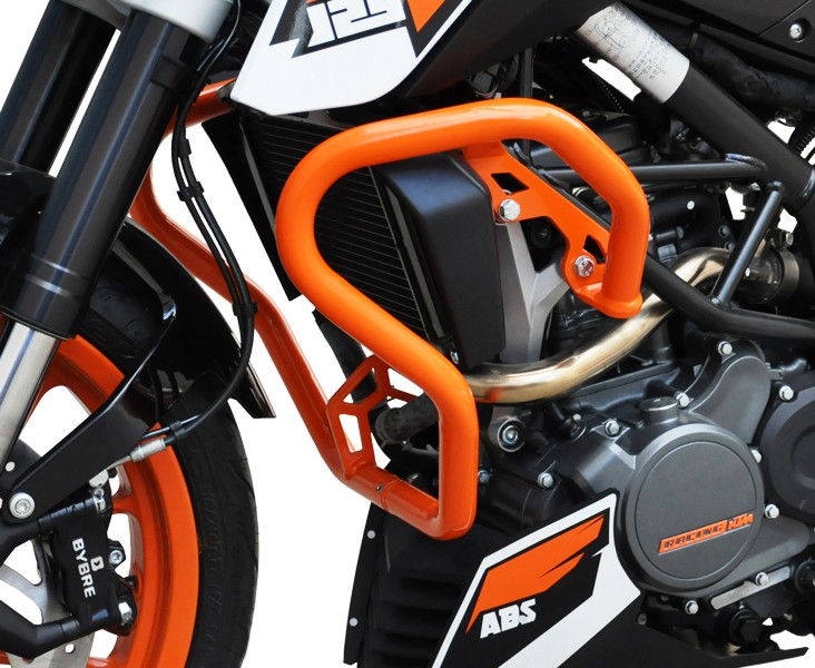 crash bar ktm duke 125 200 390 11 13 orange engine. Black Bedroom Furniture Sets. Home Design Ideas