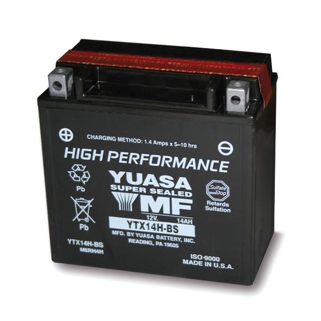 Motorcycle Battery AGM Yuasa YTX 14H BS