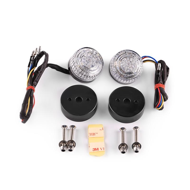 Motorrad LED Blinker/ Rücklicht Highsider COLORADO schwarz