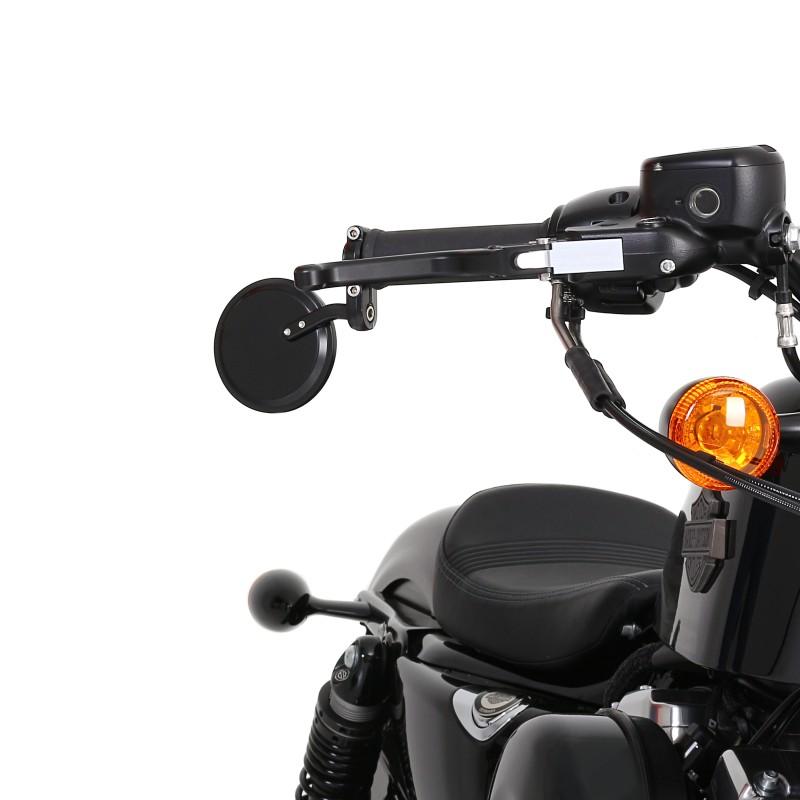 Espejo-Retrovisor-manillar-Ronda-Moto-Morini-Corsaro-Avio-1200-pareja-negr