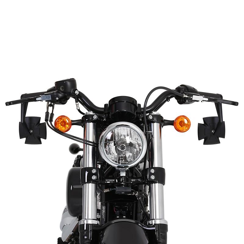 Espejo-Retrovisor-manillar-Moto-Morini-Granpasso-1200-Iron-Cross-pareja-negro