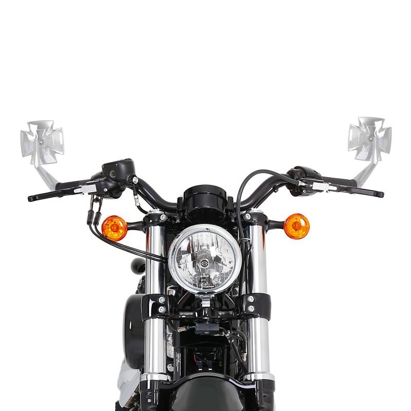 Espejo-Retrovisor-manillar-Triumph-Adventurer-Iron-Cross-C-pareja-cromo