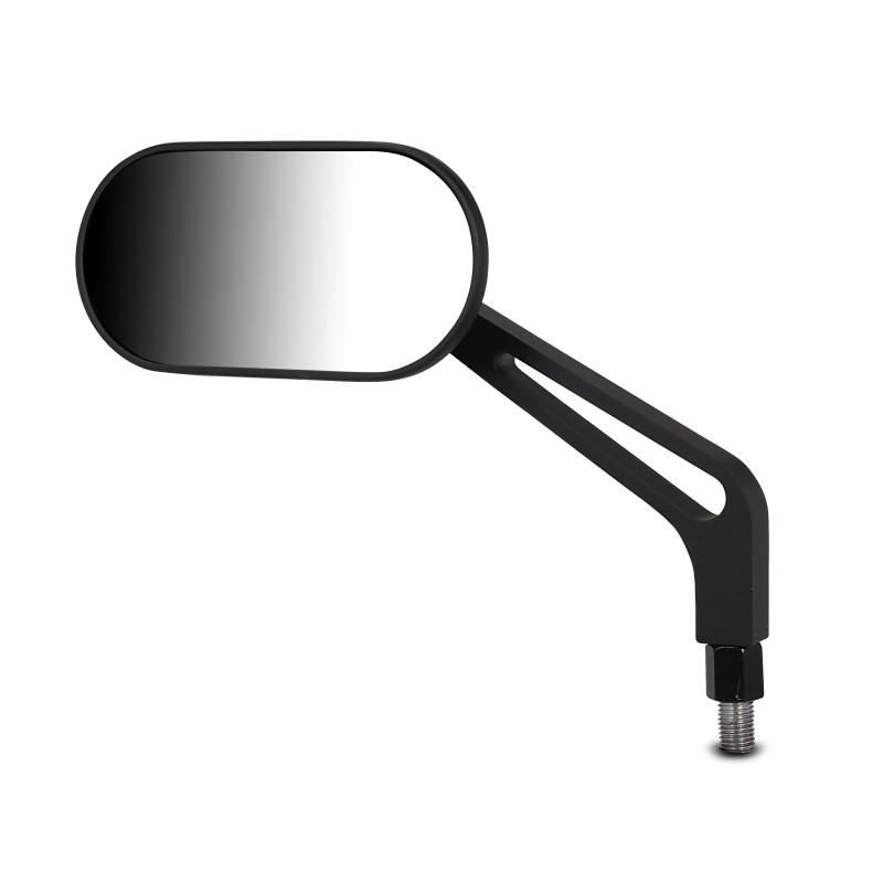 motorrad spiegel aluminium oval paar schwarz. Black Bedroom Furniture Sets. Home Design Ideas