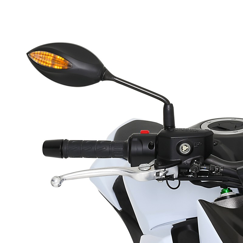 motorrad spiegel mit led blinker paar schwarz. Black Bedroom Furniture Sets. Home Design Ideas