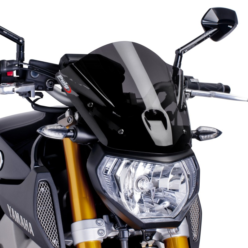 windscreen puig sport yamaha mt 09 13 16 dark smoke. Black Bedroom Furniture Sets. Home Design Ideas