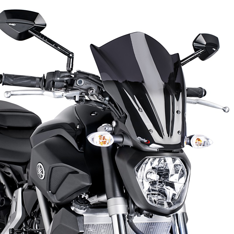 windscreen puig tour yamaha mt 07 13 18 dark smoke. Black Bedroom Furniture Sets. Home Design Ideas