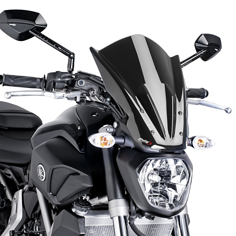 windschild puig tour yamaha mt 07 13 17 schwarz. Black Bedroom Furniture Sets. Home Design Ideas
