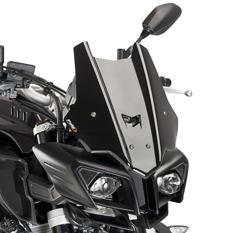 windschild puig sport yamaha mt 10 16 17 schwarz. Black Bedroom Furniture Sets. Home Design Ideas