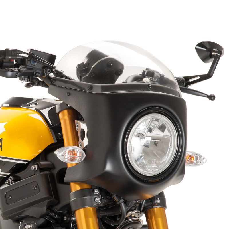 Car nage pare brise puig retro yamaha xsr 900 16 18 noir clair for Bulle haute 900 diversion