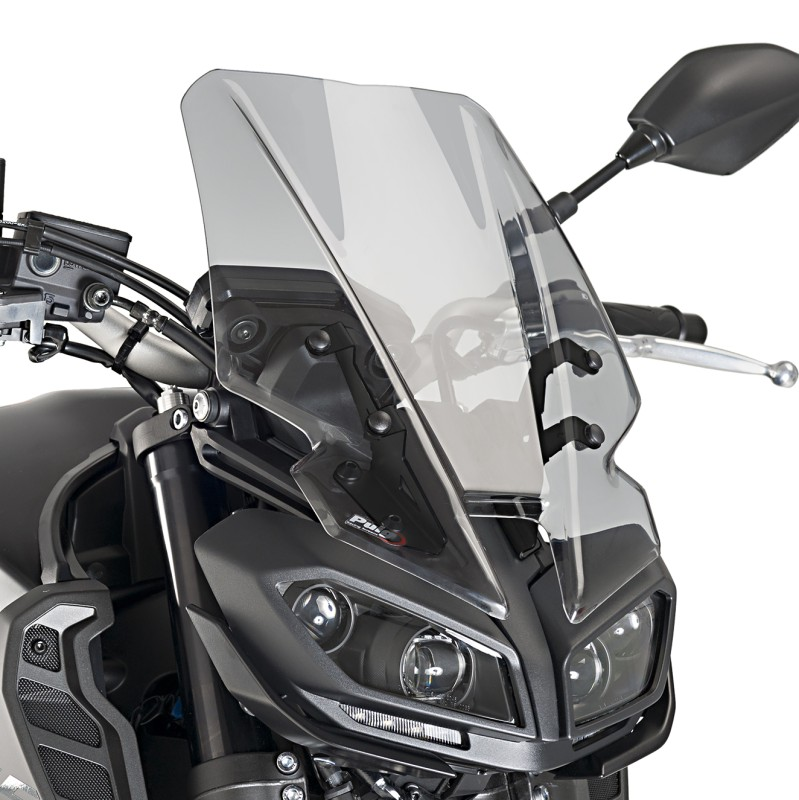 windscreen touring yamaha mt 09 17 18 puig naked new. Black Bedroom Furniture Sets. Home Design Ideas
