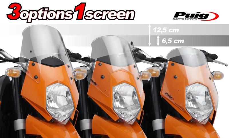 PUIG Cupula parabrisas Naked New Generation AHUMADO KTM