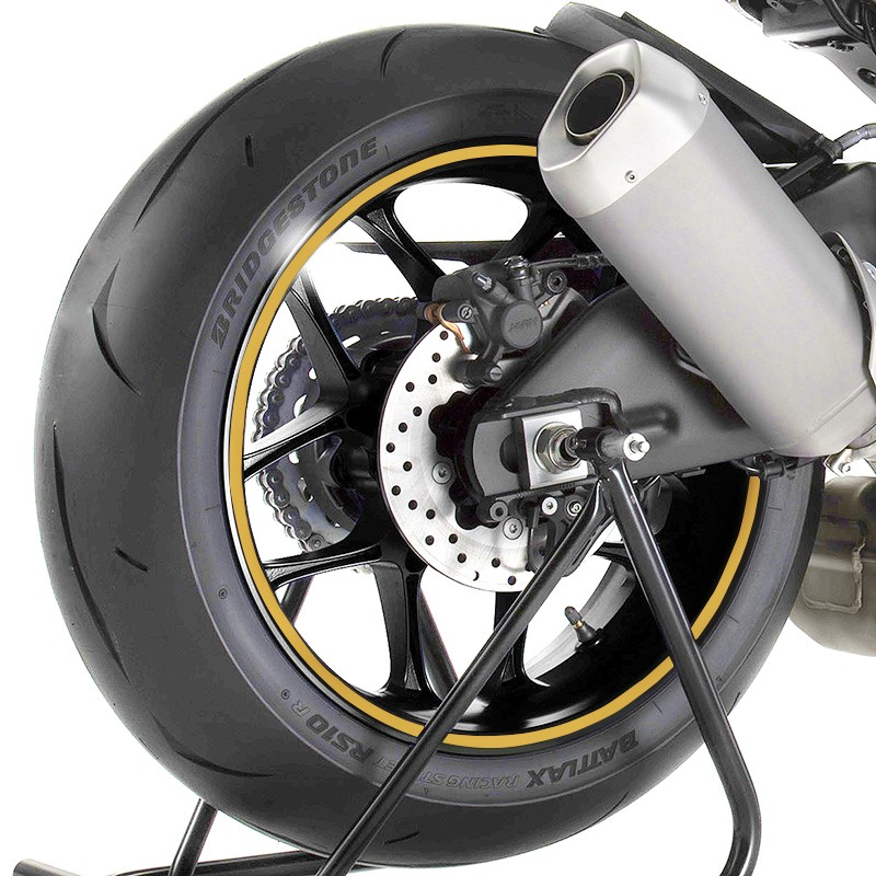 motorcycle rim tape yamaha yzf r1 gold stripes wheel tape. Black Bedroom Furniture Sets. Home Design Ideas